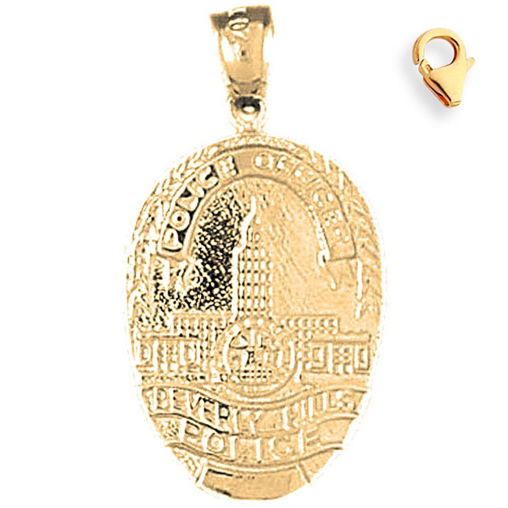 30mm Silver Yellow Plated Beverly Hills Police Charm