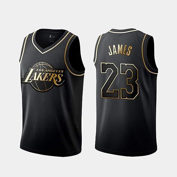 Imagen deDCE Jersey de Hombre Lakers 23# Lebron James Camisa de Baloncesto Retro Tops de Bordado de Uniforme de Baloncesto de Verano Traje de Baloncesto
