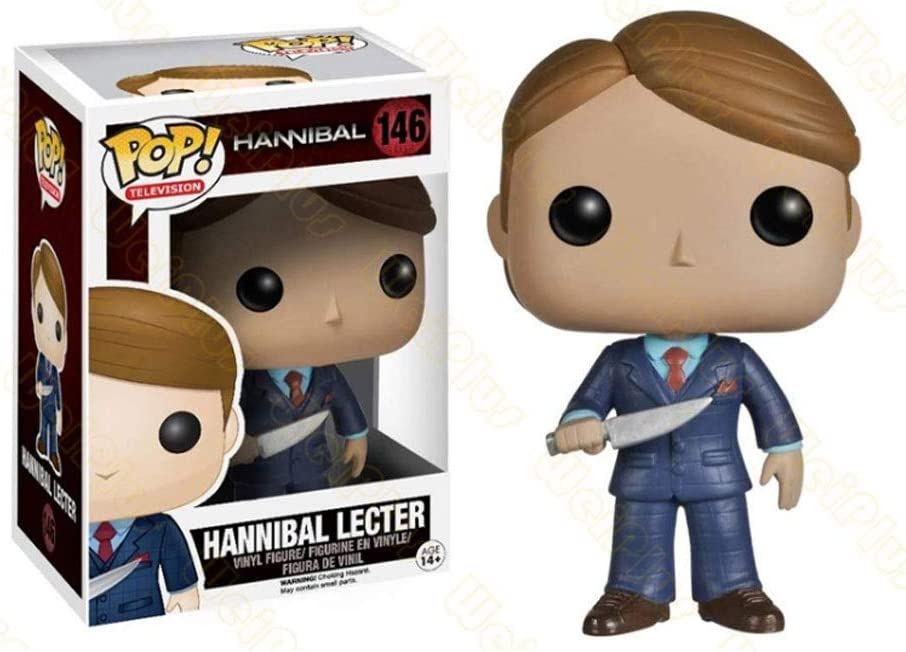 Luckly77 Dr.Lecter Pop - Figura de Vinilo de Hannibal para decoración de paisajes de Resina