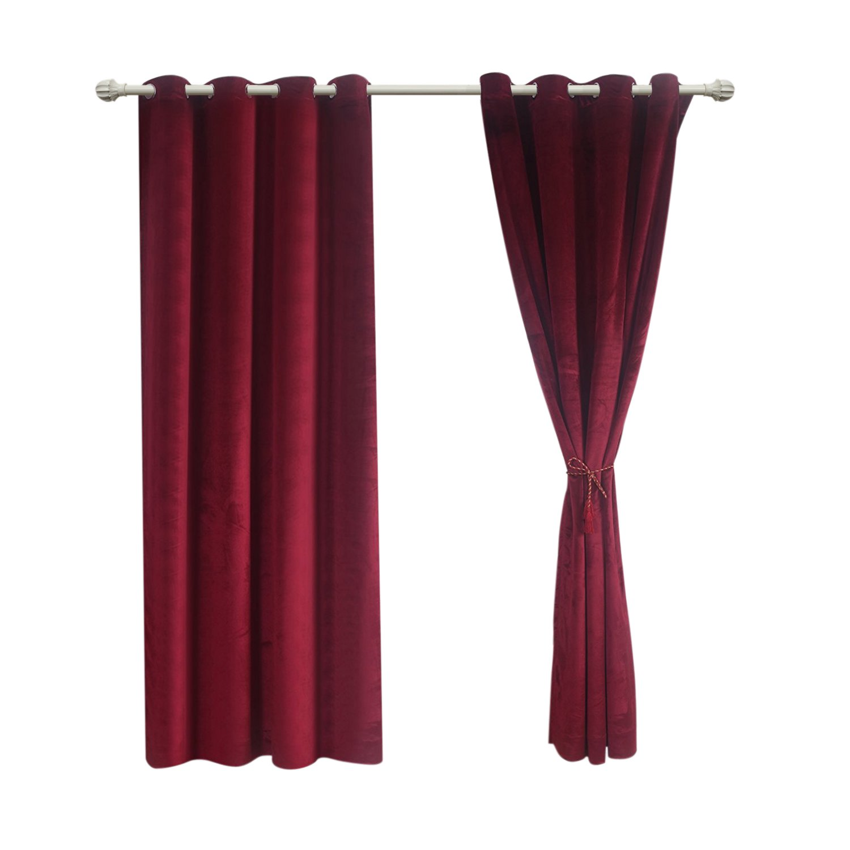 Zuodu Vorhang mit Ösen, aus mattem, schwerem schwerem schwerem Samt, verdunkelnde Gardine, superweich, für Heimkinos, Schlafzimmer, Wohnzimmer und Hotels geeignet, 1 Stück, Textil, grau, 90