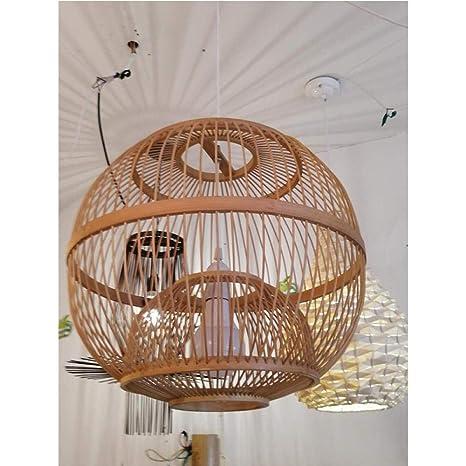 Araña de bambú costumbre india lámpara de bambú tatami arte ...