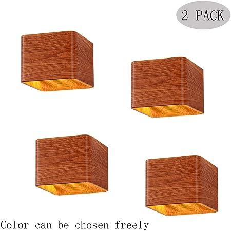 Giow Luz de Pared LED Focos y Luces empotradas, Aplique de Pared Interior Aplique Moderno Pantalla de Aluminio Dormitorio Sala de Estar Pasillo Escalera Balcón [Clase energética A ++] (Color: 4 p: