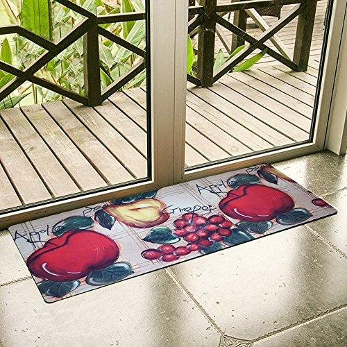 (USTIDE Vintage Style Kitchen Rugs Red Apple Design Kitchen Runner/Laundry Rug, Non-Slip)