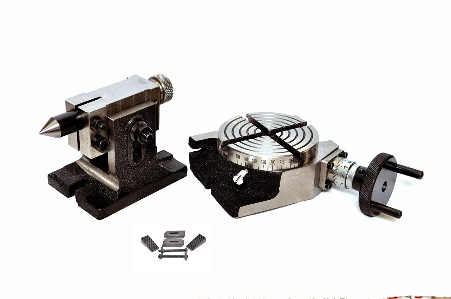 """Can be used both Vertically/& Horizontally 4/"""" ROTARY TABLE WITH CLAMPING KIT M6"""