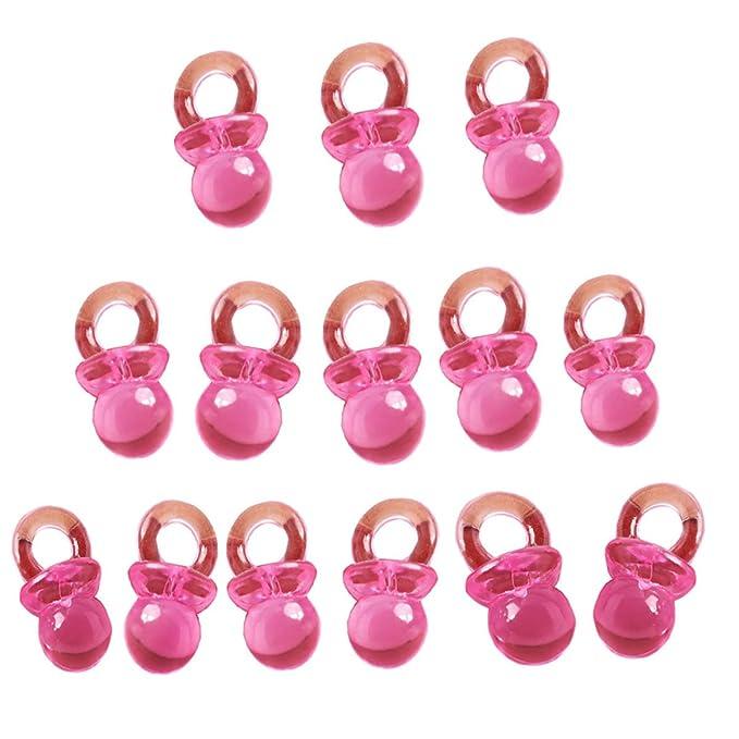 Beyond Dreams 50 Mini chupetes de bebé Rosas adecuados para Fiestas de Bienvenida para recién Nacidos Recordatorios para bautizos Fiestas Infantiles | ...