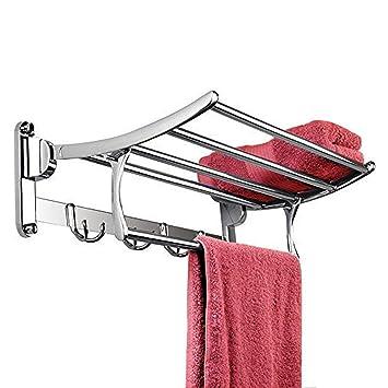 Plantex Stainless Steel Folding Towel Rack (18 inch)
