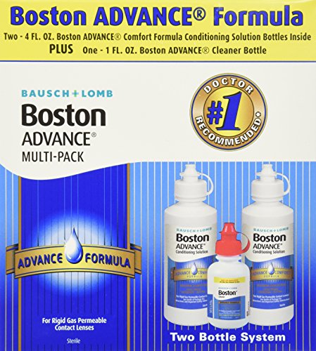 Permeable Contact (Bausch & Lomb Boston Advance Comfort Formula for Rigid Gas Permeable Contact Lenses - Two 4 oz Bottles Plus 1 oz Cleaner)
