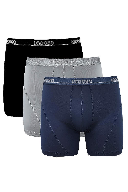 Mens 2-Pack Boxer Briefs Polyester Underwear Trunk Underwear with Vintage Pebbles Design