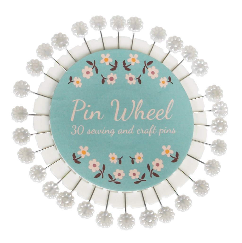 dotcomgiftshop Daisy Design Sewing And Craft Pin Wheel. Quilting Pins Rex International Ltd