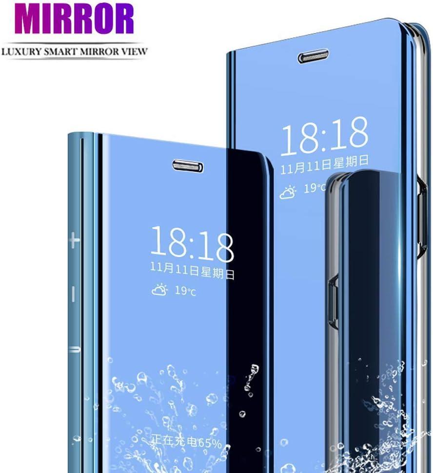 TAYLE para LG G8 ThinQ Funda,Standing Clear View Mirror Cover,Anti ...
