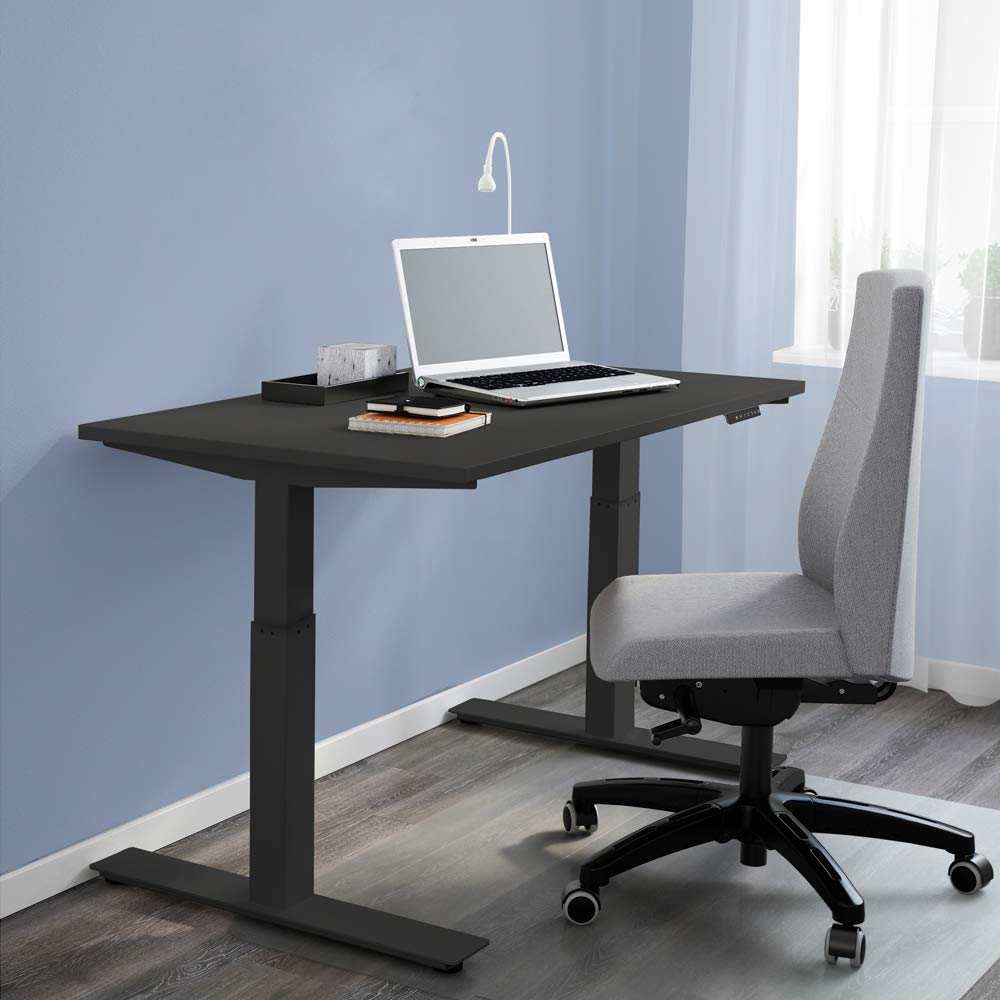 AdvanceUp Black Electric Stand Up Desk Frame Workstation, Single Motor Ergonomic Standing Height Adjustable Base, Black Desk Frame Table Top
