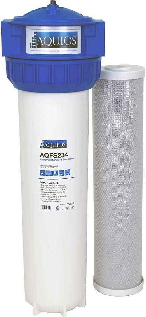 Aquios Jumbo Salt Free Full House Water Softener and Filter System - New Model