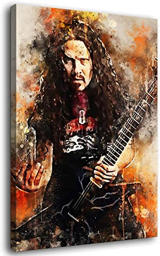 YUANZHIG Dimebag Darrell Watercolor Art Decorative Painting Poster Art Canvas Print Home Decor Paintings Wall Art Pictures Posters Presents Bedroom