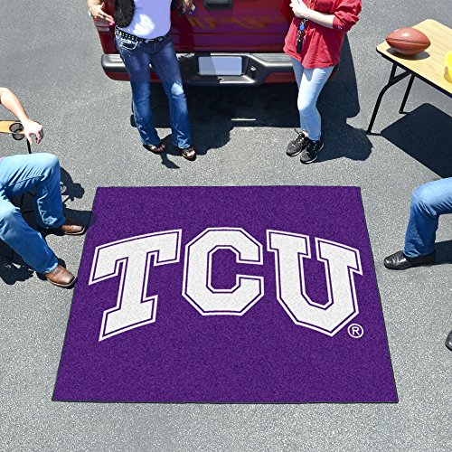 (FANMATS NCAA Texas Christian University Horned Frogs Nylon Face Tailgater Rug)
