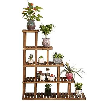 Porte Plante 5 niveaux fleur étagères plante étagère en bois debout fleur  étagères jardin plante affichage pour plante Pots étagères / étagère de ...