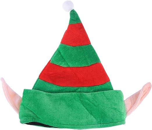 BESTOYARD Sombrero Elfo Creativo de Navidad con Orejas de Gorra de ...