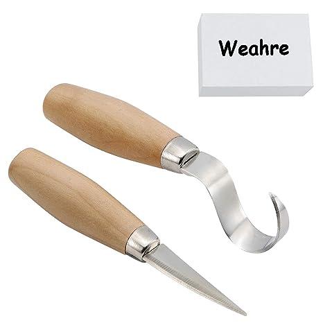 Juego de cuchillos con gancho para tallar madera para tallar ...