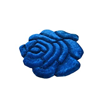 Amazon Com Area Decorative Rugs For Living Room Blue Round Roses