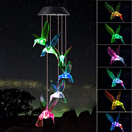 Shangtianfeng Hummingbird Wind Chimes Birthday Gifts For Mom For Mom From Daughter Mother In Law Gifts Gardening Gifts Stained Glass Window Hangings Windchimes Outdoor Decor Porch Decor Amazon Ca Patio Lawn Garden