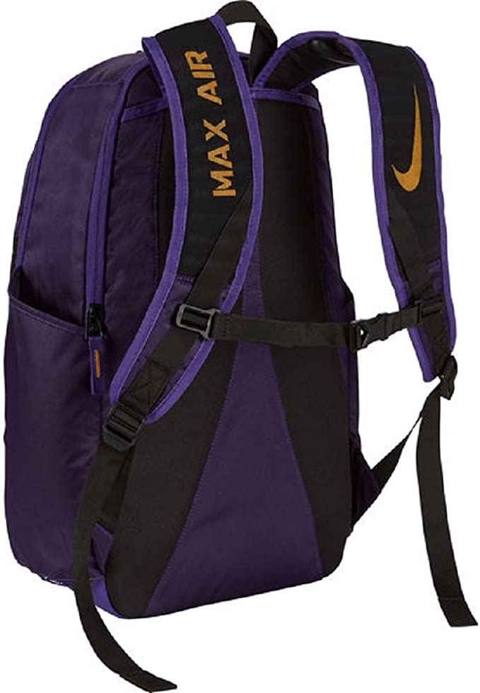 Officially Licensed NCAA LSU Tigers Lightning Kids Sports Backpack 16.5 Purple