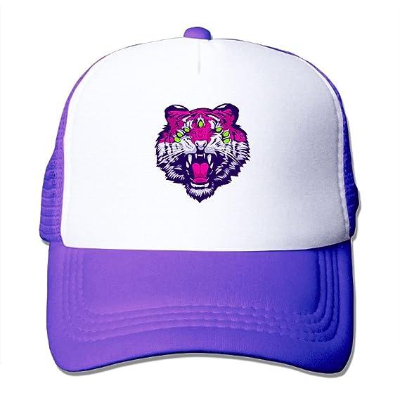e231cb65656 Amazon.com: Tiger Mesh Trucker Hat - Baseball Cap Purple: Cell ...