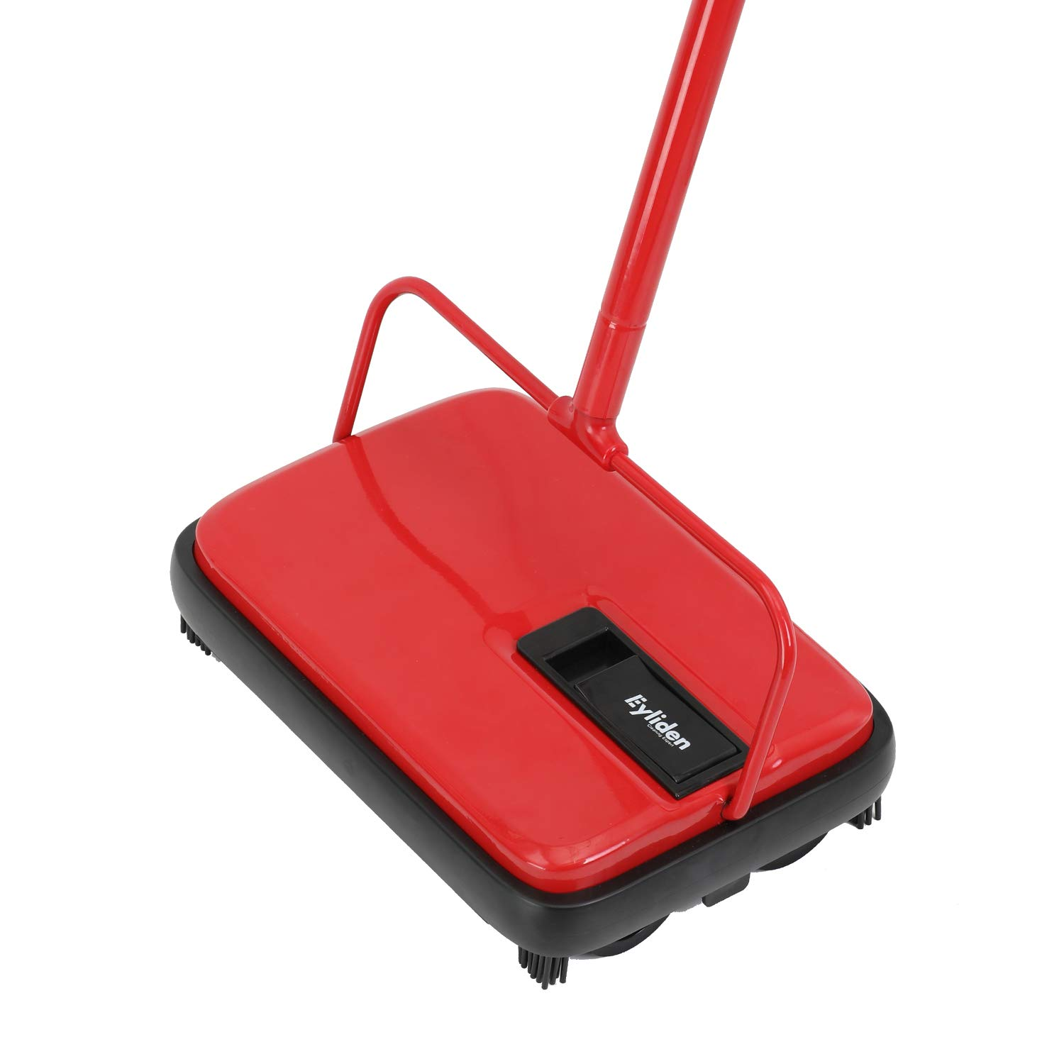 Eyliden. Carpet and Floor Red and Black Sweeper with 4 Corner Edge Brushes for Tile Carpet by Eyliden.