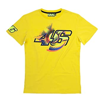 Valentino Rossi Vr46 Vortice T Shirt Moto Gp Yellow Vr199101