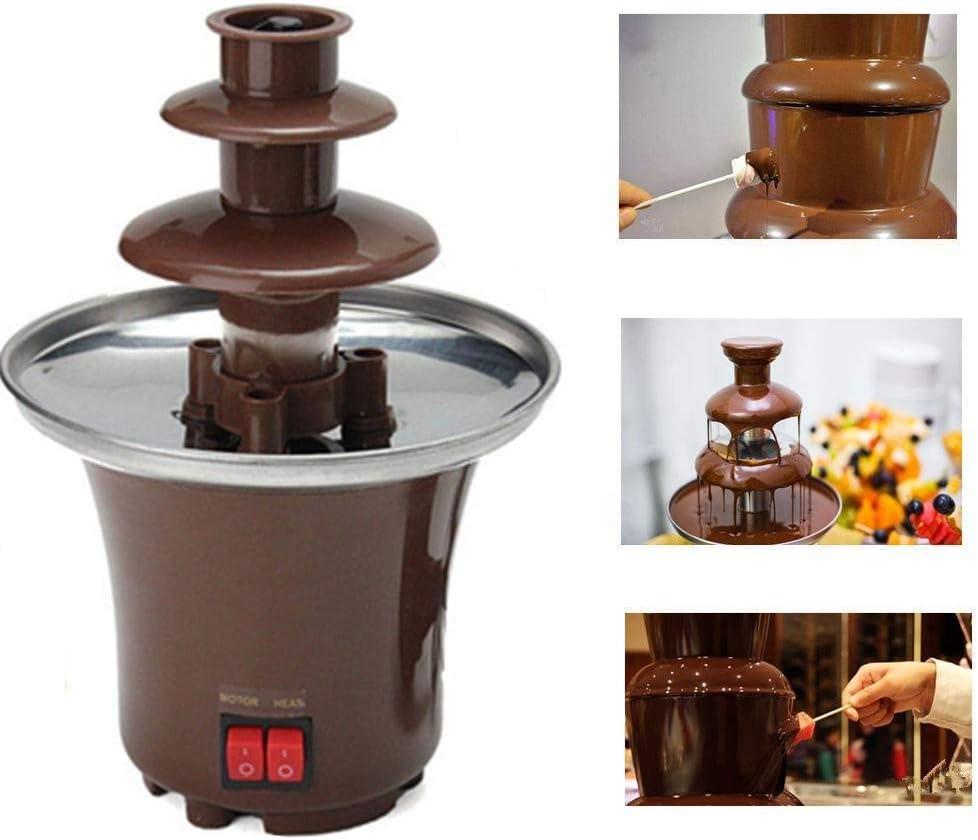Mini máquina de Fuente de Chocolate, Fuente de Fondue de 3 Niveles, Torre de máquina de fusión, Salsa, Uso doméstico ...