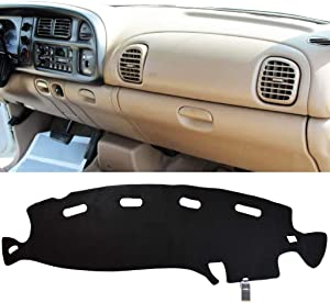 XUKEY Dashboard Cover for Dodge Ram 1500 2500 3500 1998 1999 2000 2001 Dash Cover Mat