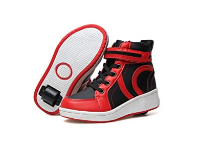 71f5de7a5f4e edv0d2v266 Boys Girls Roller Skate Shoes Unisex Kids Trainers Wheel Shoes  Kids Sports Sneaker (Red