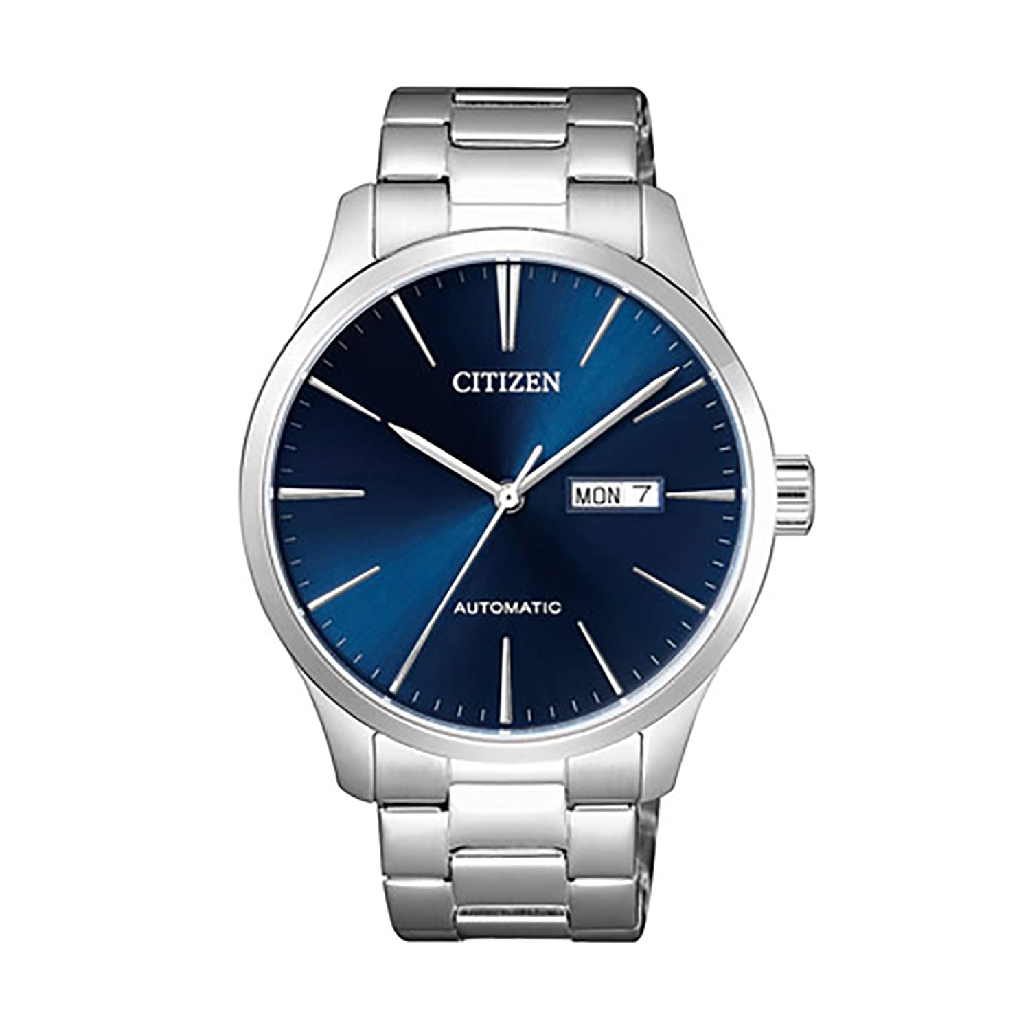 citizen-classic-automatic-blue-sunray-dial-steel-watch-nh8350-83l by citizen