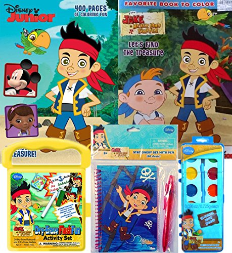 Jake & The Neverland Pirates Set of 2 Coloring Books, 12-Col
