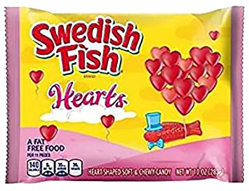 Swedish Fish Valentines Hearts