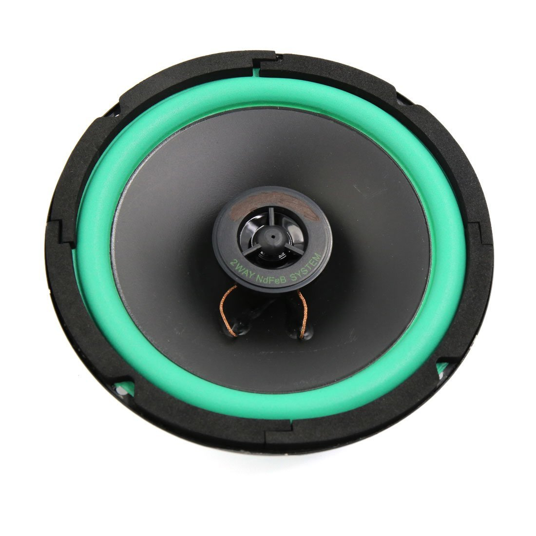 uxcell Round Shaped 6'' Two Way Mounting Car Automotive Audio Speaker Horn Siren