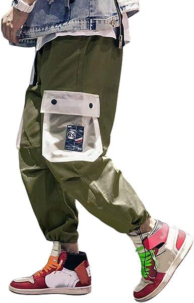 Irypulse Pantalones Carga Hombre Moda Callejera Urbana Pantalon De Camuflaje Casual Deportivo Estilo Hip Hop Para Adolescentes Jovenes Y Ninos Pantalones Sueltos Color Contraste Diseno Original Amazon Es Ropa Y Accesorios