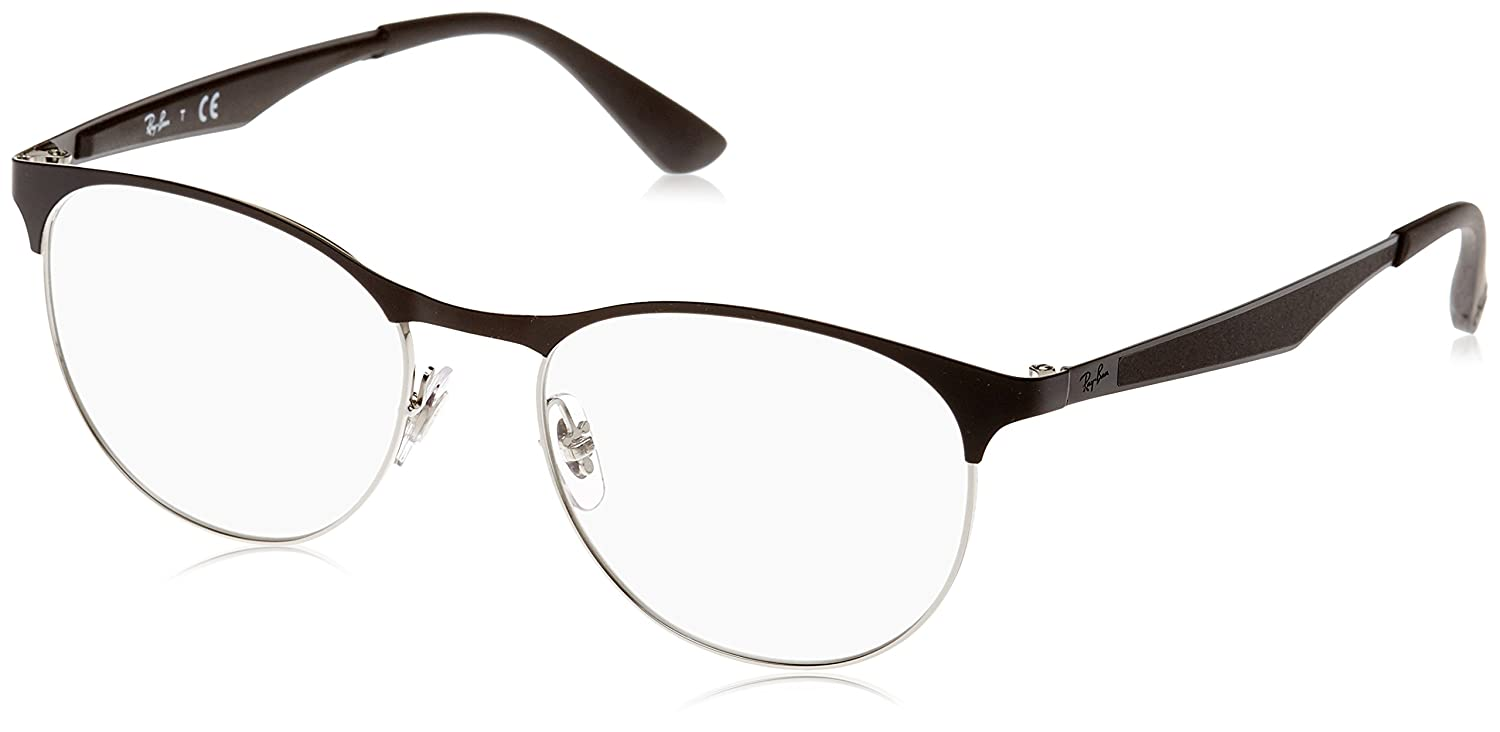 bfc73f1f3cb Ray-Ban Clubmaster Silver black Noir RX6365 RB6365 2861 53-17 Medium   Amazon.ca  Sports   Outdoors
