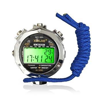 LAOPAO Cronómetro, Pantalla de Tiempo y Temperatura Impermeable ...