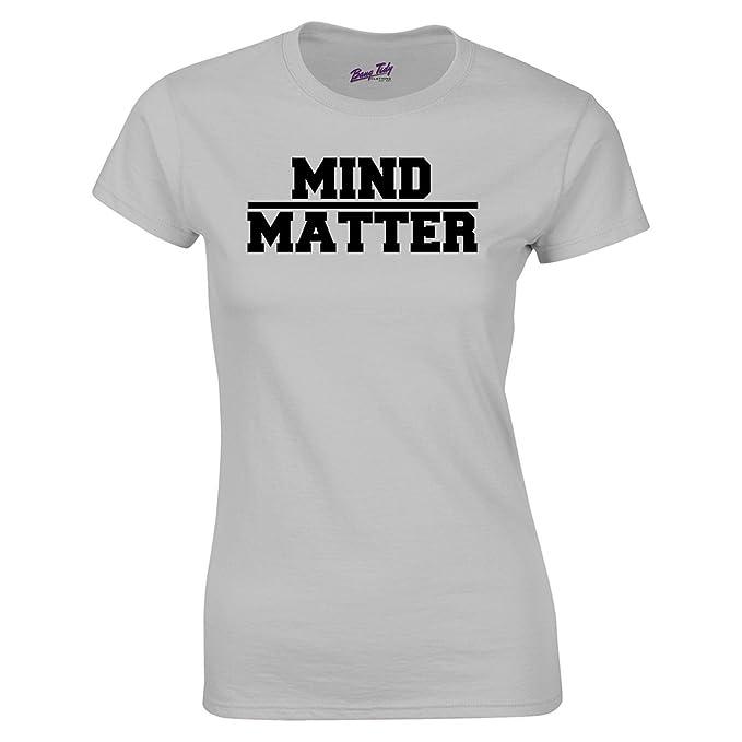 Bang Tidy Clothing Camiseras para Festival con Frase Mind Over Matter Camisetas de Verano para Mujer: Amazon.es: Ropa y accesorios