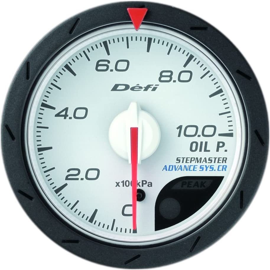 White 52mm Defi DF08101 Advance CR Oil Pressure Gauge