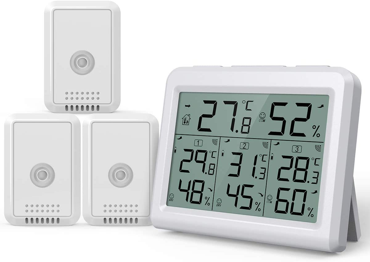 Indoor and Outdoor LCD Digital Temperature Humidity Meter Alarm Thermometer L6U1