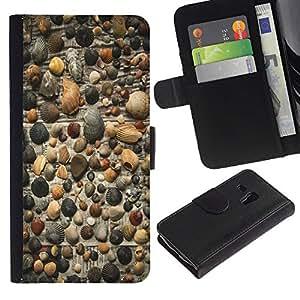 Billetera de Cuero Caso Titular de la tarjeta Carcasa Funda para Samsung Galaxy S3 MINI NOT REGULAR! I8190 I8190N / gazeta fon rakushki galka / STRONG