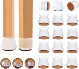 40PCS Silicone Chair Leg Covers Floor Protectors Caps Furniture Leg Caps with Felt Pad for Round and Square Chair Legs,Qefuna(Upgrade) Fit 0.8''-1.2'' (2.0-3cm)
