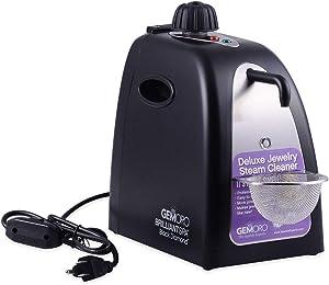 Shop Lc Delivering Joy GEMORO Black Brilliant Diamond Spa Personal Deluxe Jewelry Steam Cleaner UV Light Sanitizer