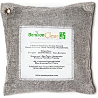Bamboo Clear - All New Activated Charcoal Air Purifier - Absorb Car Odors, Closet Wardrobe Fresheners - 200 Grams (Silver) Back to School Gift Idea - Classmate Roommate Men Women Birthday Gift Idea