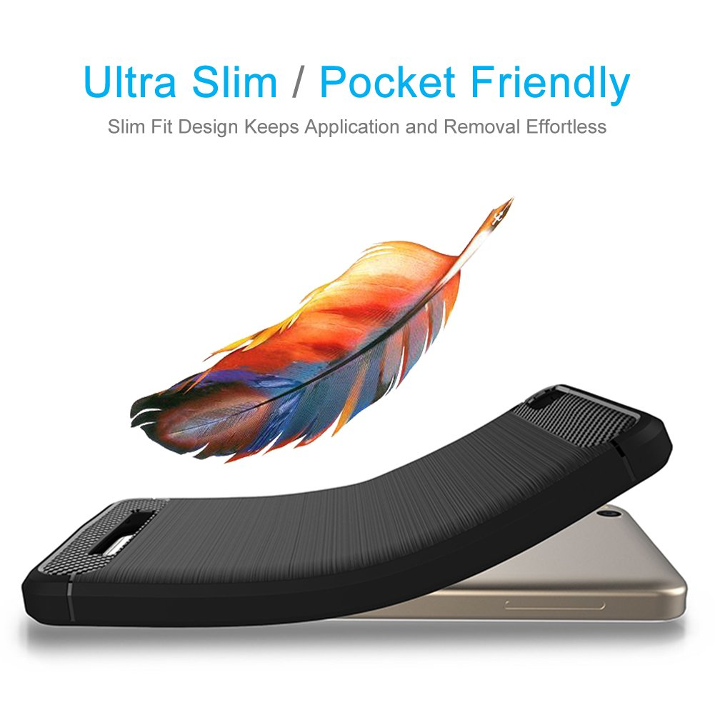 FayTun H/ülle f/ür Xiaomi Redmi 4A Xiaomi Redmi 4A Handyh/ülle Soft Schutzh/ülle Schwarz Schutz vor Fingerabdruck,Staub und Scratch-Sto/ßfest FeinMatt TPU Case f/ür Xiaomi Redmi 4A