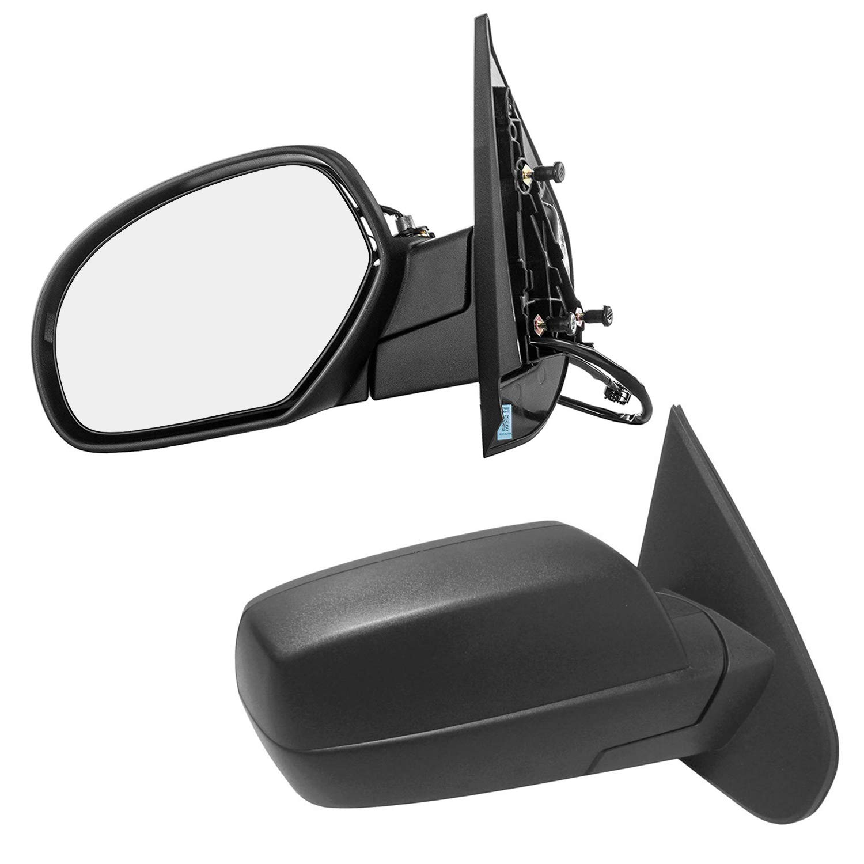 Driver and Passenger Side Door Mirrors for Chevy Silverado 1500 2500 3500 HD Suburban Tahoe GMC Sierra Yukon XL (2007 2008 2009 2010 2011 2012 2013 2014) Unpainted Heated Folding