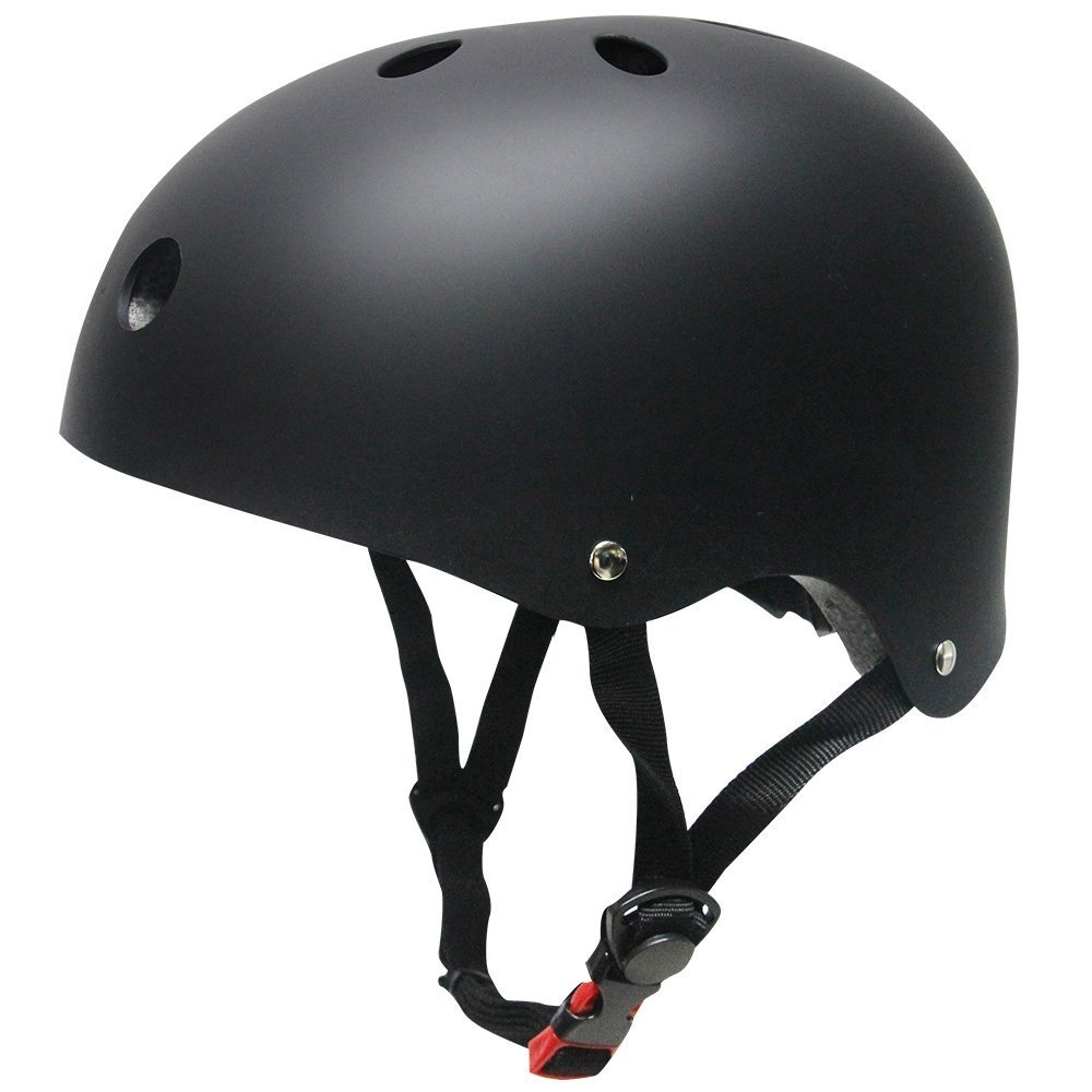 Topfire - Casco deportivo unisex, mate, color negro, tamañ o M tamaño M SKL SKL-003