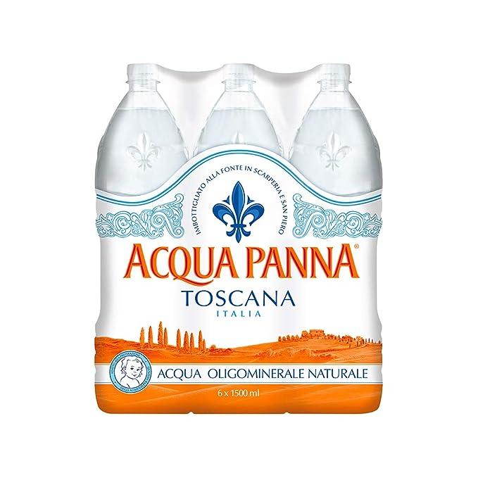 Acqua panna acqua minerale naturale lt. 1.5 confezione da 6 bottiglie (1000027873): Amazon.es: Hogar