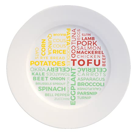 Plato de control de porciones de cerámica para pérdida de peso ...