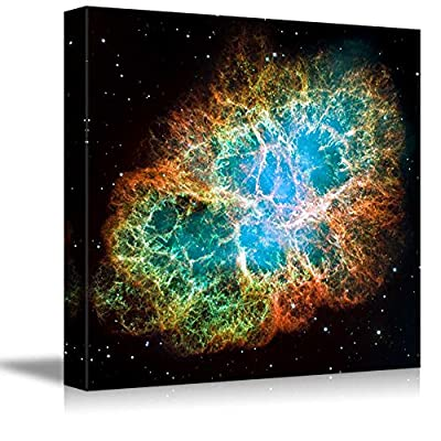 Crab Nebula Part of The Constellation Taurus Beautiful Universe Outer Space - Canvas Art Wall Art - 16